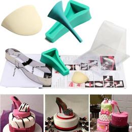 2019 outil tranchant Nouvelle 3D Lady High Heel Shoe Kit silicone Fondant Moule à sucre Gâteau au chocolat Décor Modèle moule de Noël de fête d'anniversaire de mariage moule gâteau