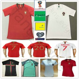 2018 World Cup Jerseys CR7 RONALDO J.MOUTINHO J.MARIO PEPE BERNARDO  QUARESMA AMDRE GOME NANI Custom Red White Soccer Football Shirt nani jersey  promotion 60b59b3af