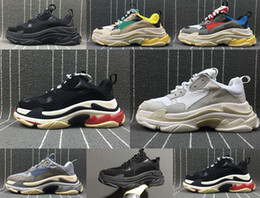 Wholesale Women High Heels Sneakers - New Triple S Shoes Man Woman Sneaker High Quality Mixed Colors Thick Heel Grandpa Dad Trainer Triple-S Casual Shoes With Logo