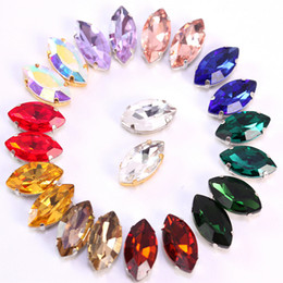 Wholesale craft horses - Wholesales 50pcs set 5*10mm Horse Eyes Faux Diamond DIY Phone Accessories Craft Suplies Jewelry Home Room Decor Arts and Crafts