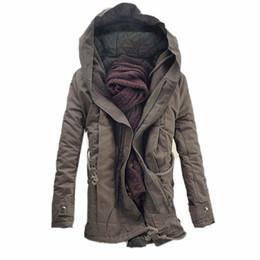 d13cd02b351 Abrigos para hombre Moda invierno cálido hombres parka abrigo chaqueta con  capucha de los hombres abrigos de algodón grueso acolchado con cremallera  cerrado ...