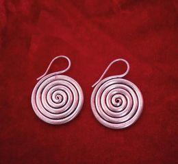 Wholesale Jade Craft Jewelry - Guizhou handmade jewelry Miao jewelry handmade Miaoyin silver earrings earrings small vortex crafts