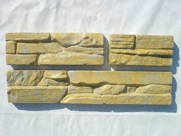 Wholesale Wall Stone - Set 3 Plastic Molds For Concrete Plaster Wall Stone Tiles Garden Decoration