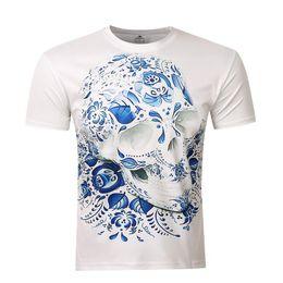 397abc247bb8 Factory direct foreign trade explosion models 2018 new European and  American men s 3D short sleeve skull print T-shirt M L XL XXL XXXL