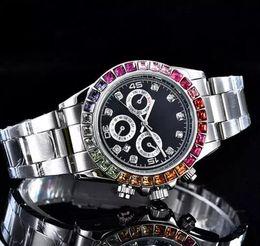 Wholesale crystal clocks - high quality top brand luxury designer womens watches diamond automatic calendar watch Ladies Rhinestone Black crystal clock gift for girl