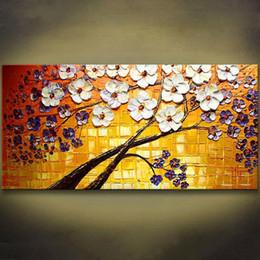 moderne große blumenmalereien Rabatt 1 Panels Blume Spachtel Malerei Handgemalte Moderne Bild Große Ölgemälde Wandkunst Bild Für Wohnzimmer Kunstwerk Ungerahmt