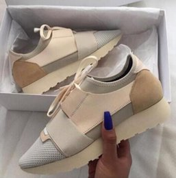 Wholesale Free Designer Shoes - 2018 HOT Free Shipping Kanye West Low Top Sneakers Men and Women Leather Business Casual Shoes Paris Men Designer Shoes SIZE 34-47