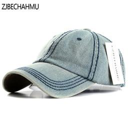 eb5d601b4a12e ZJBECHAHMU Sombreros Fashoin sólido Denim Gorras de béisbol ajustables de  la vendimia para hombres mujeres primavera verano otoño Hip Hop Snapback  sombreros ...