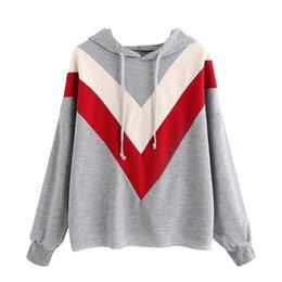 Wholesale korean winter ladies pullover - Korean Women Oversized Sweatshirt Spring Ladies Fashion Patchwork Hoodie Pullovers Girls Hip Hop Jumper Tops Winter Moletom #YL