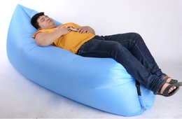 Wholesale Inflatable Sofa Furniture - Garden Sets new Lounge Sleep Bag Lazy Inflatable Beanbag Sofa Chair, Living Room Bean Bag Cushion, Outdoor Self Inflated Beanbag Furniture