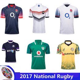 Wholesale Usa Rugby Jerseys Xxl - 17 18 United States Rugby Shirts Top Thai best quality 2017 18 NRL National Rugby League USA Rugby jersey navy blue size S-3XL