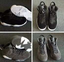 109f272e16ff28 2018 New Men 6 VI Oreo Suede Basketball Shoes Man Black Grey 6s Mens  Designer Trainers Athletic Sneakers Sports Shoes Size US 8-13