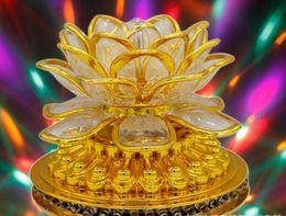 2019 lotus lumière bouddha Led petit soleil en rotation lotus bouddha lumière lotus coloré fleur ktv bar vacances lanterne décorative AC85v-250v lotus lumière bouddha pas cher