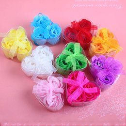 Wholesale Birthday Flower Bouquets - Heart Shape Rose Soap Petal Practical Regulating Emotion Simulation Flower For Valentines Day Birthday Party Gifts Bouquet New 0 95mw B
