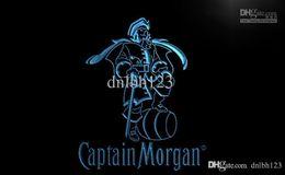 Wholesale Neon Bar Lights Captain - LE138- Captain Morgan Spiced Rum Bar NR LED Neon Light Sign