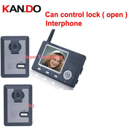 trava de porta controlada sem fio Desconto pode controlar o bloqueio (porta), 3 parede para o trabalho, telefone sem fio da porta de vídeo, 3,5