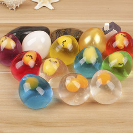 Wholesale Egg Ball - Eggs Ball Squeeze Venting Toys Cartoon Lovely Yolk Decompression Toy Child Best Gift Multi Color 2 25yy C
