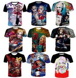 2019 gorra camisetas hombre Nueva moda parejas hombres mujeres Harley Quinn Joker impresión 3D No Cap Casual camisetas Tee Tops manga corta venta al por mayor gorra camisetas hombre baratos
