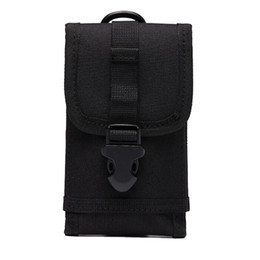 Wholesale Baseball Phone Covers - Universal Multipurpose Tactical Cover Smartphone Holster Security Pack Carry Case Pouch Molle Bag For Mobile Phone Belt Pouch Holster Cover