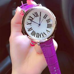 2018 новая мода стиль Женщины часы кожаный браслет Леди смотреть стали римские цифры роскошные кварцевые часы для партии фиолетовый высокое качество от