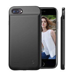 """Wholesale iphone rechargeable battery case - Black Case Charger Lightning for iPhone 5.5"""", 8000mAh Extended Rechargeable iPhone 8 7 6 6s Plus Battery Pack Case Charger"""