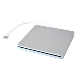 Slot dvd online-Custodia DVD esterna USB Freeshipping per MacBook Pro SATA Disco rigido DVD Super Multi slot ha un look in alluminio Silver