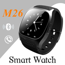 Wholesale wrist barometer - M26 smartwatch Wirelss Bluetooth Smart Watch Phone Bracelet Camera Remote Control Anti-lost alarm Barometer V8 A1 U8 watch for IOS Android