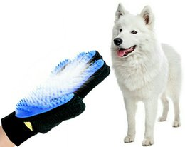 500 pz Pet Hair Removal Brush 4 Colori Pet Grooming Guanto Cane Pettine Silicone Bath Mitt Pet Dog Cat Massage Deshedding Guanti da luci gp fornitori