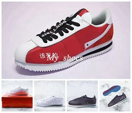Wholesale Newest Designer Sneakers - Newest 2018 Cortez Kendrick Lamar Damn QS Running shoes for mens women Casual Shoes Triple White Red Purple Designer Trainers Sneakers US10