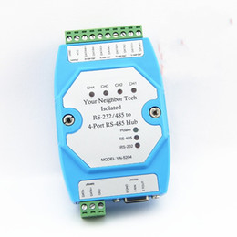 Wholesale Industrial Ethernet - Free shipping 1pcs Isolated RS-232 RS485 to 4 Port RS485 Hub Industrial Ethernet module