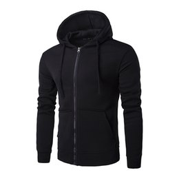 Wholesale Trendy Winter Sweaters - Winter New Men's Hoodies Hooded Zipper Large Pocket Personality Trendy Version of The Sweater Coat Casual Sweater Male Clothing