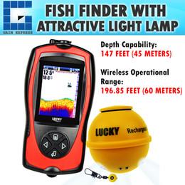 FF-1108-1CWLA LCD chanceux de couleur de poisson de trouveur de poisson, localisateur portatif rechargeable de sondeur, sonde de sondeur de profondeur 60M de 45M ? partir de fabricateur