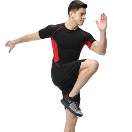 lindo peito negro Desconto PSVTEIDE Esporte terno para o homem de fitness workout outfit gym sport homem ternos de compressão fatos de treino jumper 'conjuntos de duas peças de ginástica