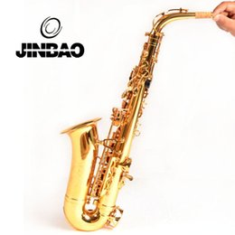 Wholesale Copper Alto Saxophone - JINYIN JYAS-M220 Professional saxophone alto E flat Copper saxofone musical instrument Sax Bakelite Mouthpiece with Hard Case