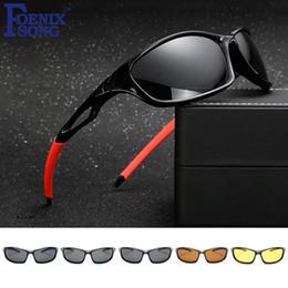Nuevos anteojos de visión nocturna online-2017 Rider Polarized Sunglasses para Hombres Brand New Women Night Vision Gafas de Sol Gafas Femeninas Oculos de sol KP1003