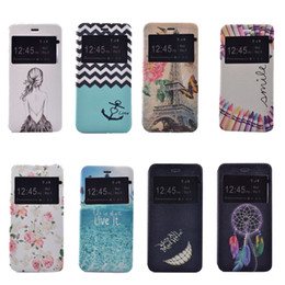 Wholesale Iphone Touch Stick - for iphone 5 SE 6s plus Touch 5 phone case Hard PC Back PU leather painting Embossed Relief Kickstand stick shockproof Dust Proof Built in
