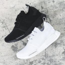 Wholesale runner sport - Classic NMD Runner R1 pk og japan Triple Black white Men Women Running Shoes Sneaker nmd Runner Primeknit mens trainer sports Shoes 2018
