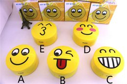 Wholesale Smile Face Button - New Emoji Portable Cartoon Stereo Bluetooth Speaker Wireless Subwoofer Lovely Smile Faces Mp3 Music Player Support TF Card Voice Control