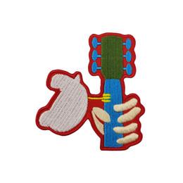 2019 красивые гитары Красивый Вудсток музыкальный фестиваль Голубь гитара качалка вышитые патч железа На или шить на одежду Оптовая Бесплатная доставка дешево красивые гитары