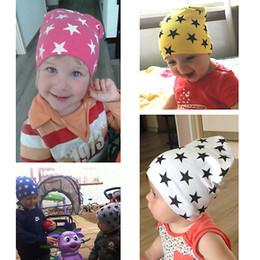 Bei cappelli da bambino online-New Style Beautiful Baby Hat Autunno Inverno Bambini Caps cotone Ragazzi Ragazze Berretti Star Kids Cap Gorros Toddler Hats