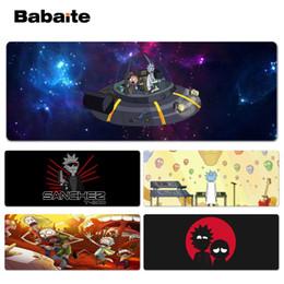 Babaite 2018 Новые игровые коврики Rick и Morty для игровых автоматов Lockedge Mousepad для 300 * 900 * 2 мм и 400 * 900 * 2 мм дизайн коврика для мыши от