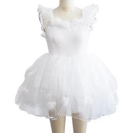 Robes de danse blanches professionnelles en Ligne-Professionnel Ballet Tutu Jupe Longue Fille Enfants Robe De Mariage Robe Robe De Danse De Ballet Vêtements White Swan Lac Costumes Pour Femmes