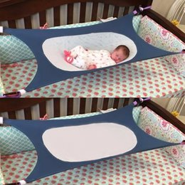 Wholesale newborn hammock - Newborn Indoor Baby Sleeping Aerial Hammock Durable Safety High Strength Infant Hamac Cotton Material Cot Beds For Home 117 *75cm