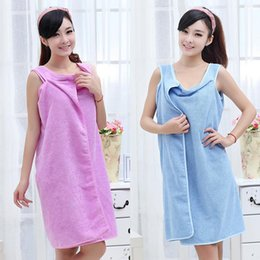 Wholesale microfiber towels for hair - Comfortable Fast Drying Super Absorbent Microfiber Bath Towels For Adults Woman Washcloth Supplies Bathrobe Beach Shower Towel