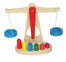 Wholesale montessori wooden - Wooden Balance Montessori Education Style Puzzle Libra Pendulum Early Learning Weight Kids Intelligence Math Toys Hot Sale 19oy Z