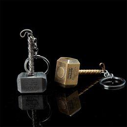 chave para nissan qashqai Desconto Os Vingadores Homem De Ferro Palma Chaveiro Fonte Thor Hammer Tor Liga Hammer Car Keychain
