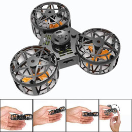 paquete blando para Rebajas Nuevo ABS Juguete diminuto Drone Flying Fidget Spinner Stress Relief Regalo Flying Gyroscop Toy con cable USB