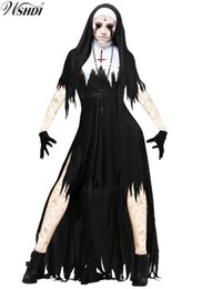 2019 vampire Womens Dreadful Nun Costume Adulte Le Scarist Ghoulish Witch Uniforme Halloween Party Cosplay Vampire Sorcière Fancy Dresses sexy vampire pas cher