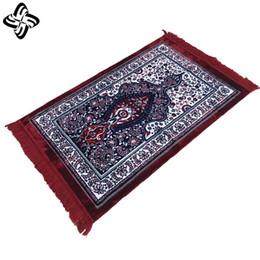 Alfombras turcas online-TK-006 turca de terciopelo oración islámica Alfombra Janamaz Sajjadah musulmanes Namaz Seccade Oración Turco alfombra de la estera