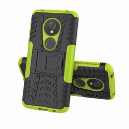 Wholesale Huawei P - For LG G7 K8 2018,MOTO E5 G6 Play,Huawei Y7 Prime 2018 (7C),P Smat(Enjoy 7S) ShockProof Dazzle Hybrid Case Rugged Armor Hard Plastic Cover